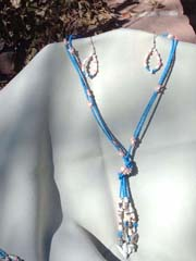 Lariat with earrings